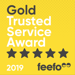 feefo Gold Trusted Service 5 Star