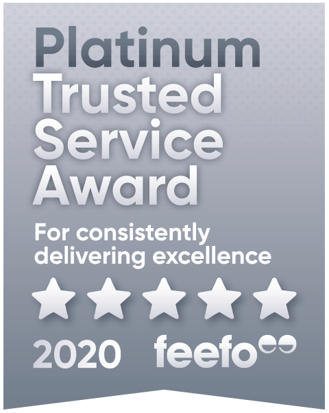 feefo Platinum Trusted Service 5 Star