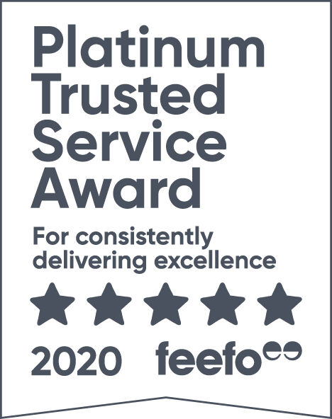 feefo Platinum Trusted Service 5 Star